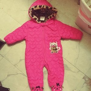 Baby girl warm onesie